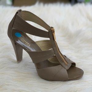 Michael Kors Berkley genuine leather heels 8.5